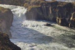 Rio Salmon - quedas das crianças Fotos de Stock