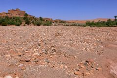 Rio seco em Marrocos imagem de stock