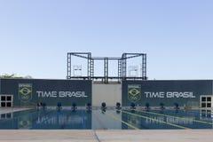 Rio 2016 sedi olimpiche: Maria Lenk Aquatic Center fotografia stock