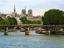 Rio Seine, Paris, France Foto de Stock Royalty Free