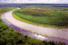Rio Siberian Imagens de Stock Royalty Free