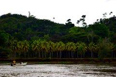 Rio Sierpe Fishermen Stock Photography