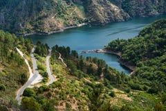 Rio Sil em Galiza, Espanha Fotografia de Stock Royalty Free