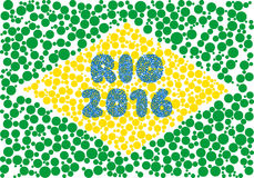 Rio 2016 silhouette consisting of circle. Abstract creative symbol on white background for design elements. illustrations made in the technique of small dots Stock Images