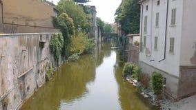 Rio Sottoriva River in Mantua stock video footage