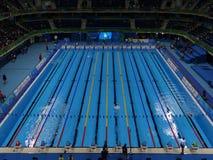 Rio 2016 - stadio acquatico olimpico immagini stock libere da diritti