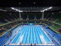 Rio 2016 - stadio acquatico olimpico fotografia stock libera da diritti