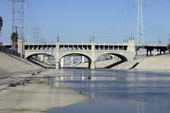 Rio sujo poderoso do LA Fotografia de Stock