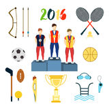 Rio summer olympic games icons vector illustration. isolated on white background. . Rio summer olympic games icons vector illustration. Rio summer olympic games Vector Illustration