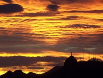 Rio Sunset Royaltyfri Bild