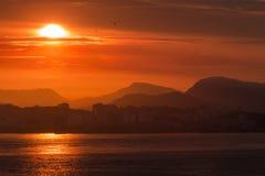 Rio Sunset Stock Afbeelding