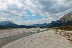 Rio Tagliamento Udine Itália histórico Fotos de Stock