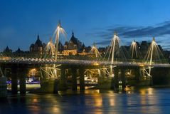 Rio Tamisa na noite Fotografia de Stock Royalty Free