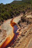 Rio Tinto 1. Foreshortened image of the riverbed of the Rio Tinto (Spain Stock Photos