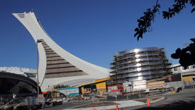 Rio Tinto Alcan Planetarium Construction, Montreal Stock Images