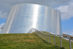 Rio Tinto Alcan Planetarium. MONTREAL QUEBEC CANADA JULY 15 2016: The new Rio Tinto Alcan Planetarium will give visitors a chance to look back at life from a new stock image