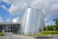 Rio Tinto Alcan Planetarium. MONTREAL QUEBEC CANADA JULY 15 2016: The new Rio Tinto Alcan Planetarium will give visitors a chance to look back at life from a new stock images