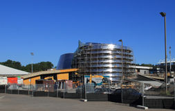 Rio Tinto Alcan Planetariumkonstruktion, Montreal Arkivbilder