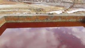 Rio Tinto-Bergwerk in Spanien stock video footage