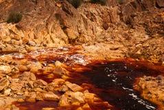 Rio Tinto (czerwona rzeka) Obrazy Royalty Free