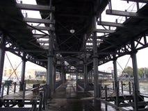 Rio Tinto żelaza most w Huelva, Andalucia Hiszpania Fotografia Stock