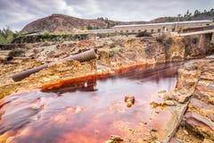 Rio Tinto flod, Huelva, Spanien Arkivfoto