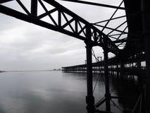 Rio Tinto Iron Bridge i Huelva Arkivbilder