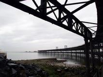 Rio Tinto Iron Bridge i Huelva Arkivbild