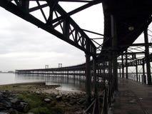 Rio Tinto Iron Bridge i Huelva Arkivfoto
