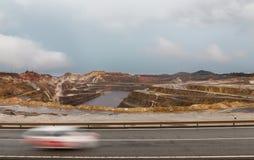 Rio Tinto min- och bilslinga Arkivbilder
