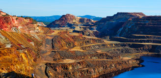 Rio Tinto mine. This mine is located in Riotinto, Huelva, Spain. This area along the Rio Tinto, in the Andalusian Province of Huelva in Spain has been mined for Stock Photos