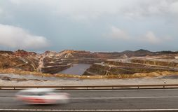 Rio Tinto mine and car trail Stock Images
