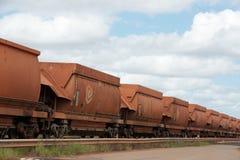 Rio Tinto Mining Train Arkivbild