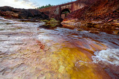 Rio Tinto river in Spain. Stock Images
