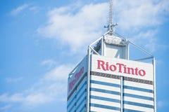 Rio Tinto som bryter högkvarteret Perth Royaltyfria Bilder