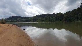 Rio transparente no brokopondo imagens de stock
