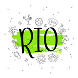 Rio. The trend calligraphy. Stock Images