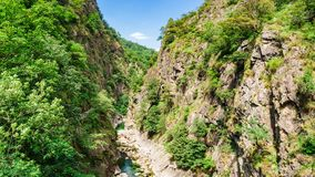 Rio Val Grande in Piemont, Italien stockbilder