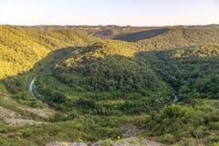 Rio Veleka na montanha Bulgária de Strandja Fotos de Stock