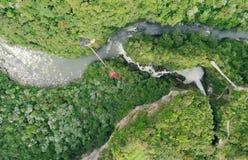 Rio Verde Ecuador With Pailon Del Diablo foto de archivo libre de regalías