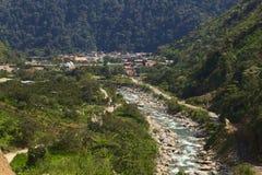 Rio Verde em Equador fotos de stock
