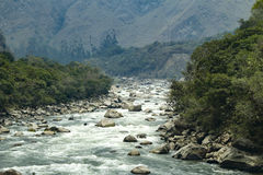 Rio Vilcanota nel Perù Immagine Stock
