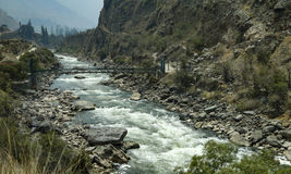 Rio Vilcanota in Peru Stock Images