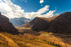 Rio Vilcanota. Urubamba River Valley Royalty Free Stock Photography