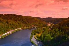 Rio Vltava da barragem Foto de Stock
