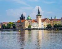 Rio Vltava Praga República Checa Imagens de Stock Royalty Free