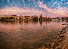 Rio Vltava, Praga, república checa Imagem de Stock Royalty Free