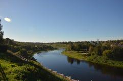 Rio Volga Fotos de Stock Royalty Free