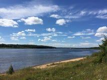 Rio Volga Foto de Stock Royalty Free