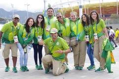 Rio 2016 volontari olimpici Immagine Stock